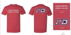 PowerTech Diesel - Make Diesel Great Again !  RED T SHIRT - Image 2
