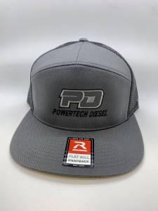 PowerTech Diesel - PD 7 Panel Grey FLAT BILL Snap Back - Image 3