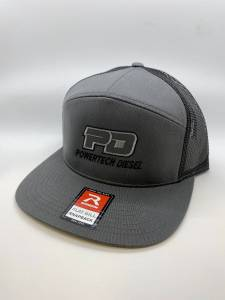 PD Gear - PowerTech Diesel - PD 7 Panel Grey FLAT BILL Snap Back