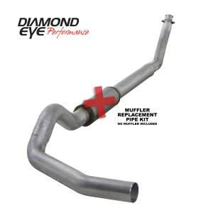 Exhaust - Exhaust Systems - Diamond Eye Performance - Diamond Eye Performance 1994-2002 DODGE 5.9L CUMMINS 2500/3500 (ALL CAB AND BED LENGTHS)-5in. ALUMINIZED K5216A-RP