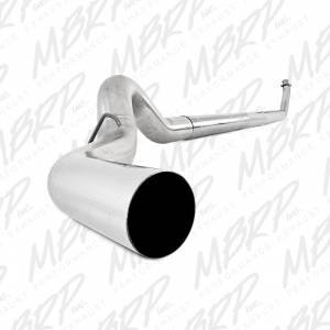 MBRP Exhaust - MBRP 1994-2002 Dodge Cummins 5.9L Turbo Back Single Side Exhaust Systems (Without Muffler) - Image 4