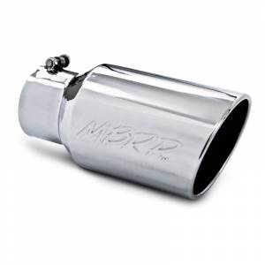 "MBRP Exhaust - MBRP (4"" Inlet, 6"" Outlet, 12"" Length) Angle Cut Rolled End Stainless Exhaust Tip T5073"