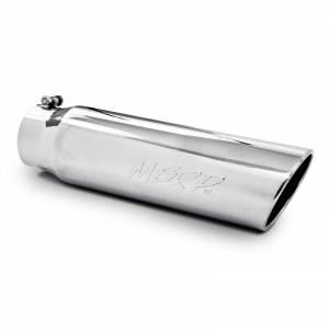 "MBRP Exhaust - MBRP (4"" Inlet, 5"" Outlet, 18"" Length) Angle Cut Rolled End Stainless Exhaust Tip T5124"