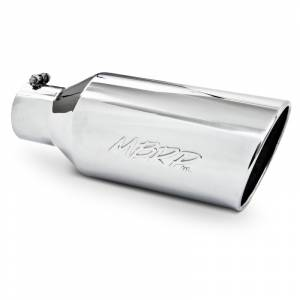 "MBRP Exhaust - MBRP (4"" Inlet, 7"" Outlet, 18"" Length) Angle Cut Rolled End Stainless Exhaust Tip T5126"