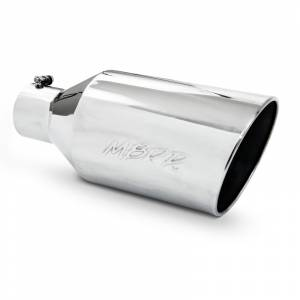 "MBRP Exhaust - MBRP (4"" Inlet, 8"" Outlet, 18"" Length) Angle Cut Rolled End Stainless Steel Exhaust Tip T5128"
