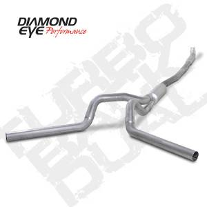 Diamond Eye Performance - Diamond Eye 2001-2007 Duramax Turbo Back Quiet Tone Dual Exhaust Systems