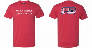Gear & Apparel - Shirts - PowerTech Diesel - Make Diesel Great Again !  RED T SHIRT
