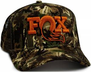 Gear & Apparel - Hats - Fox Factory Inc - Fox Factory Inc 2017, FOX Camo Trucker Hat, O/S 495-01-222