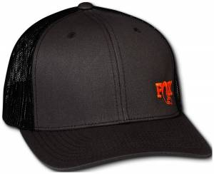 Gear & Apparel - Hats - Fox Factory Inc - Fox Factory Inc 2018, FOX Track Trucker 2.0, Gray/Orange, O/S 495-01-306