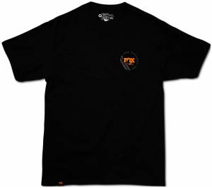 Gear & Apparel - Shirts - Fox Factory Inc - Fox Factory Inc 2018, FOX Men's Racer Tee, 100% Ringspun Cotton, Black, L 495-25-296