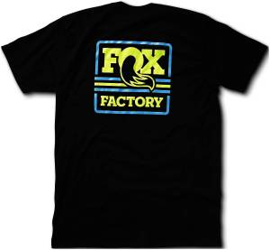 Gear & Apparel - Shirts - Fox Factory Inc - Fox Factory Inc 2017, FOX Throwback Tee, 100% Ringspun Cotton, Black, XL 495-01-232