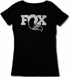Gear & Apparel - Shirts - Fox Factory Inc - Fox Factory Inc 2017, FOX Women's Ride 2.0 Tee, 60% Cotton/40% Poly, Black, L 495-01-247