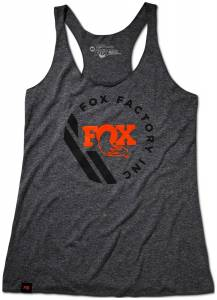 Gear & Apparel - Shirts - Fox Factory Inc - Fox Factory Inc 2018, FOX Women's Tank, 50% Poly/25% Cotton/25% Rayon, Premium Heather, L 495-03-056