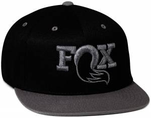 Gear & Apparel - Hats - Fox Factory Inc - Fox Factory Inc FOX Authentic Snapback Hat, Black/Gray 495-01-299