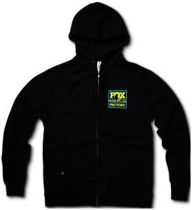 Gear & Apparel - Shirts - Fox Factory Inc - Fox Factory Inc 2018, FOX  Throwback Hoody, 60% Cotton/40% Poly, Black, XXL 495-02-286