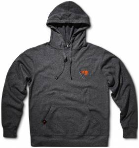 Gear & Apparel - Shirts - Fox Factory Inc - Fox Factory Inc 2018, FOX Racer Hoody, 100% Poly, Gunmetal Heather, M 495-02-288