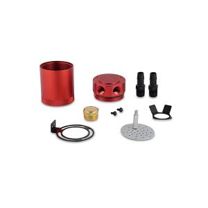Shop By Part - Maintenance - Mishimoto - Mishimoto Mishimoto Compact Baffled Oil Catch Can, 2-Port MMBCC-MSTWO-RD