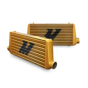 Intercoolers and Pipes - Intercoolers - Mishimoto - Mishimoto Mishimoto Universal Intercooler M-Line Eat Sleep Race Edition, All Gold MMINT-UMG