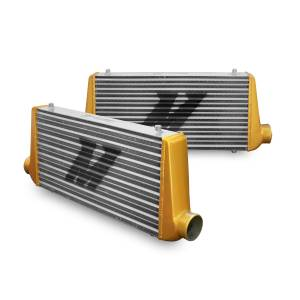 Intercoolers and Pipes - Intercoolers - Mishimoto - Mishimoto Mishimoto Universal Intercooler M-Line Eat Sleep Race Edition, Gold End Tanks MMINT-UMGA